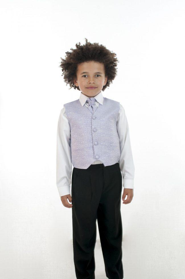 4 Piece Vivaki Swirl Suit in Lilac-0