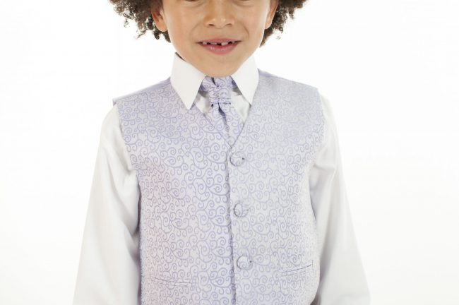 4 Piece Vivaki Swirl Suit in Lilac-858