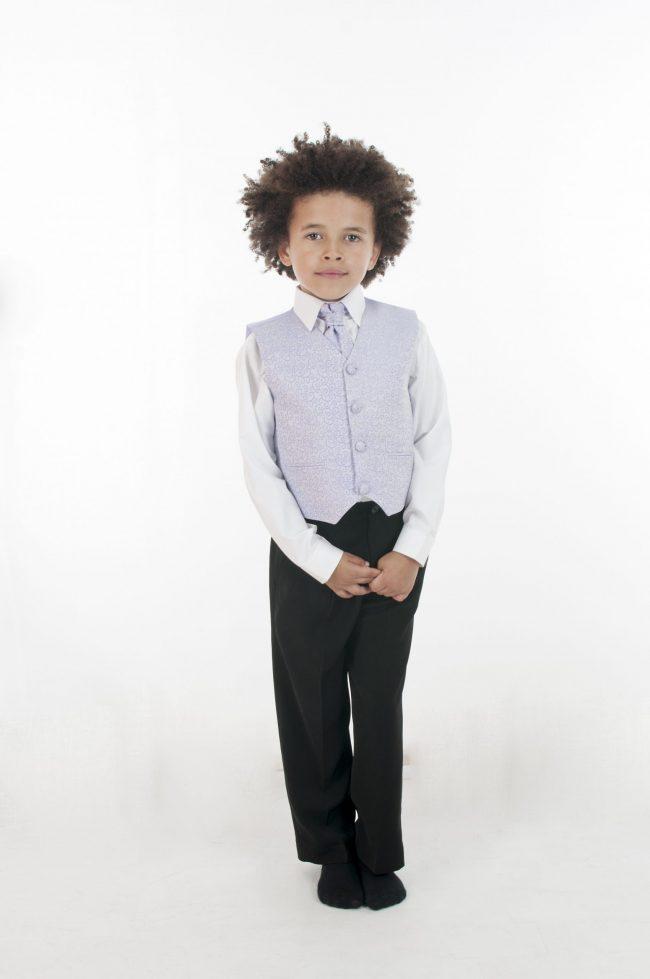 4 Piece Vivaki Swirl Suit in Lilac-856