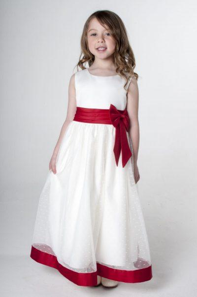 Visara Bow Dress in Red V340-0