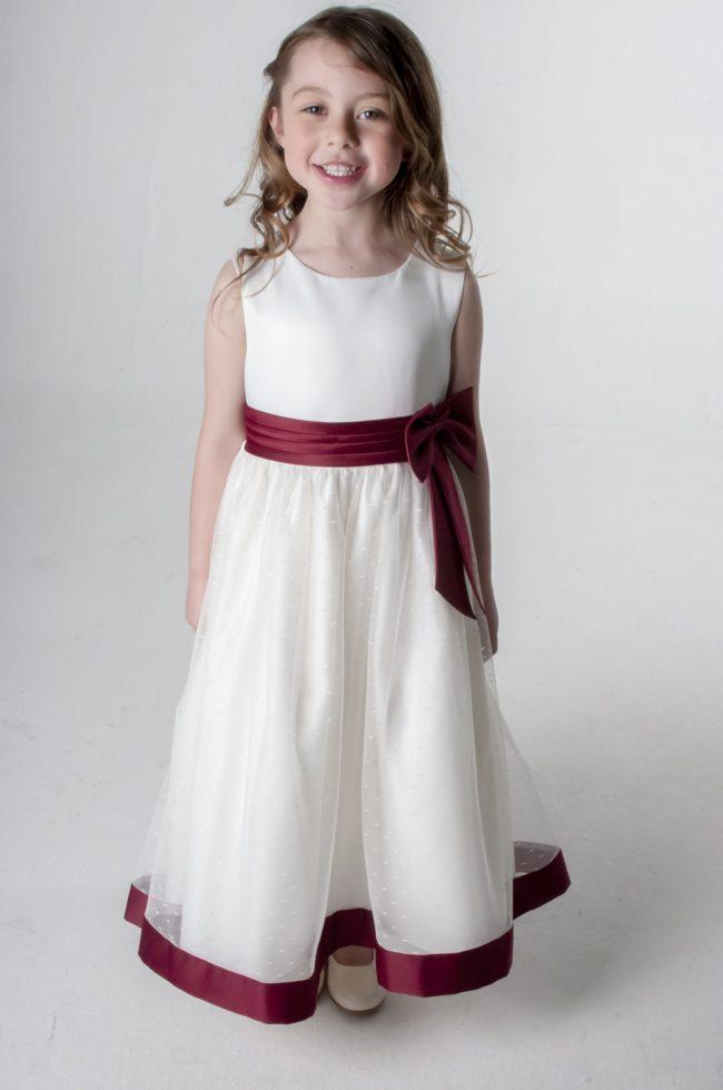 Visara Bow Dress in Wine V340-0