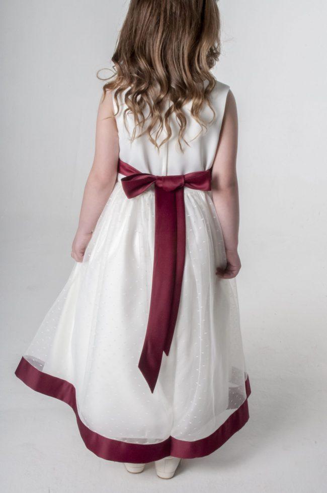 Visara Bow Dress in Wine V340-38