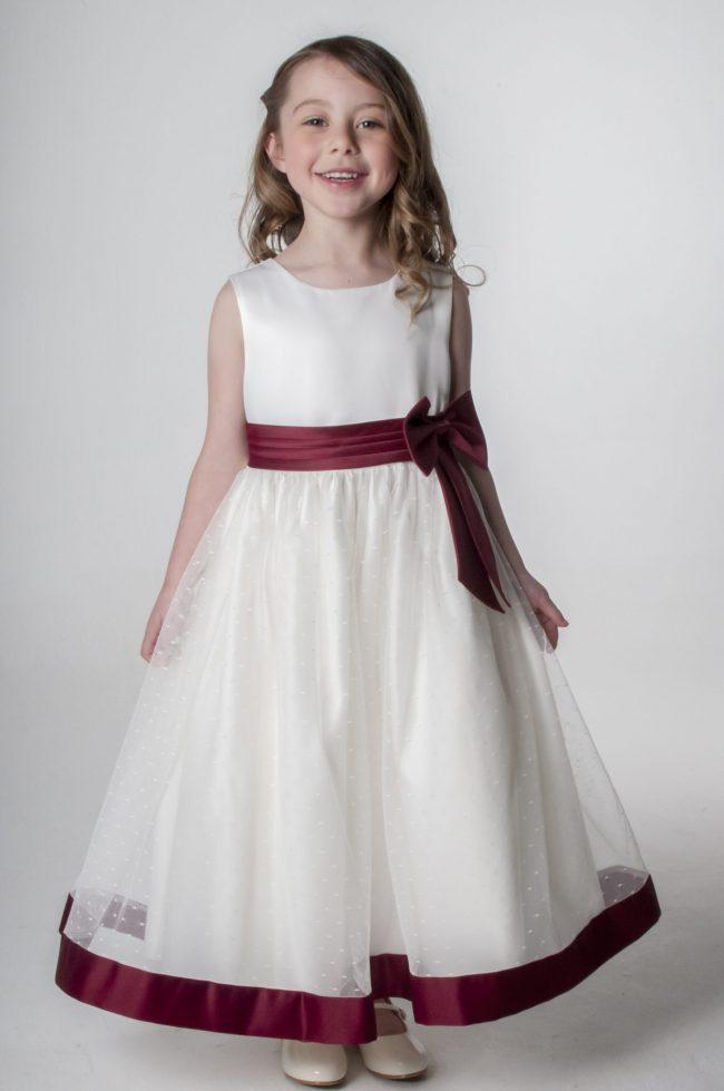 Visara Bow Dress in Wine V340-40