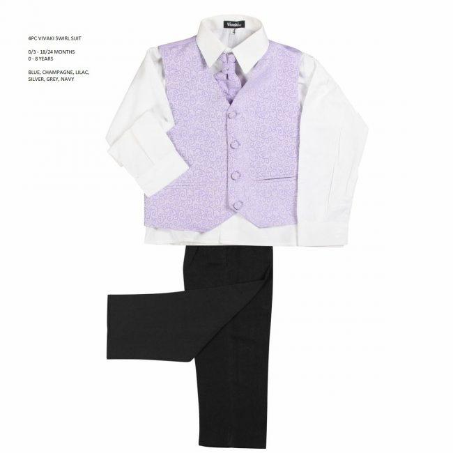 4 Piece Vivaki Swirl Suit in Lilac-3