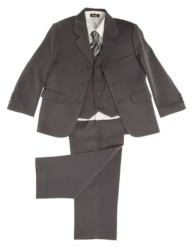 Vivaki 5 Piece Suit in Grey-85
