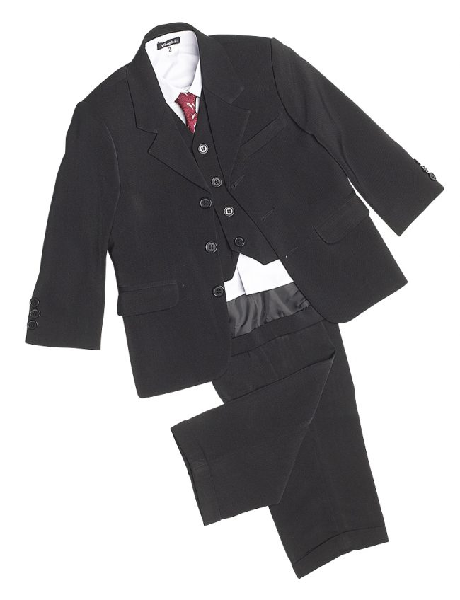 Vivaki 5 Piece Classic Suit in Black -88