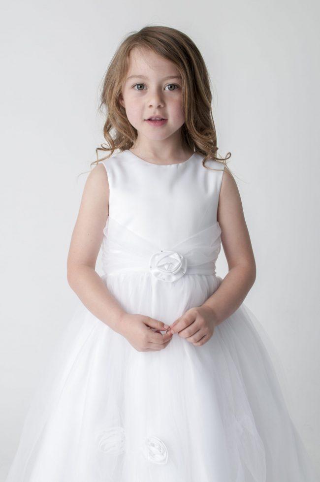 Visara Rose Dress In White V349-246