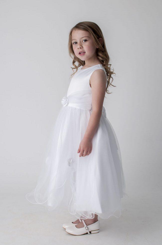 Visara Rose Dress In White V349-249