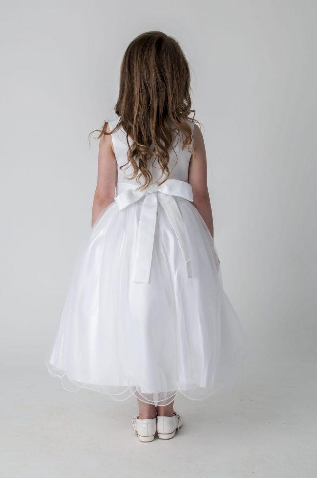 Visara Rose Dress In White V349-247