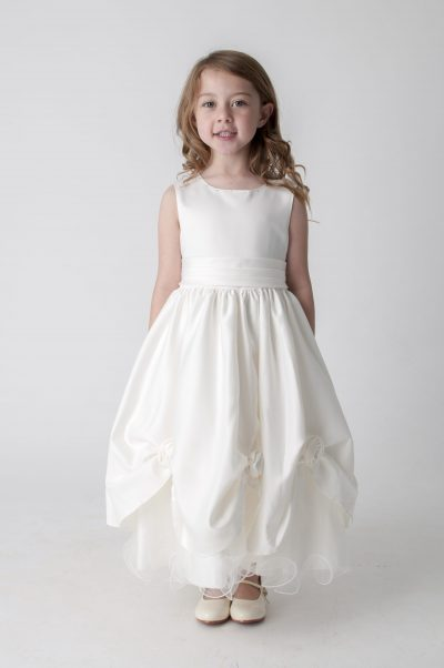 Visara Rosebud Dress In Ivory W325-0