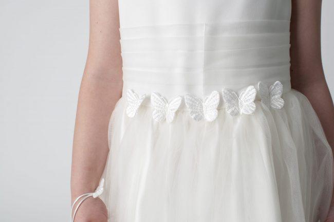 Visara Butterfly Dress In Ivory W327-318