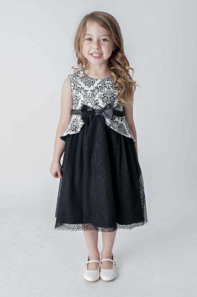 Visara Black Dress-0