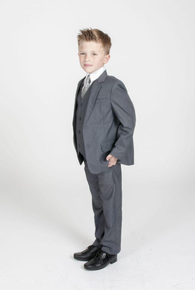 Vivaki 5 Piece Suit in Grey-0