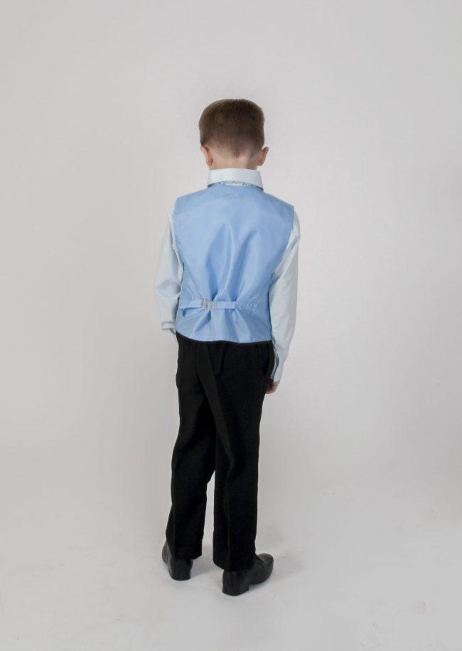 Vivaki 4 Piece Dobby Suit in Blue-842