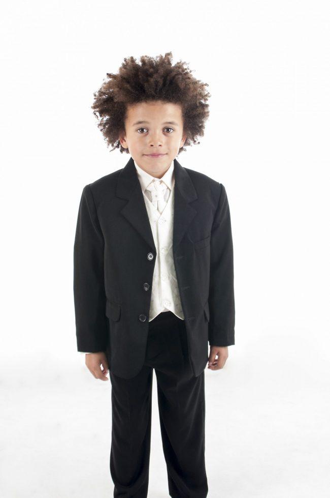 Vivaki 5 Piece Dobby Suit in Cream-0