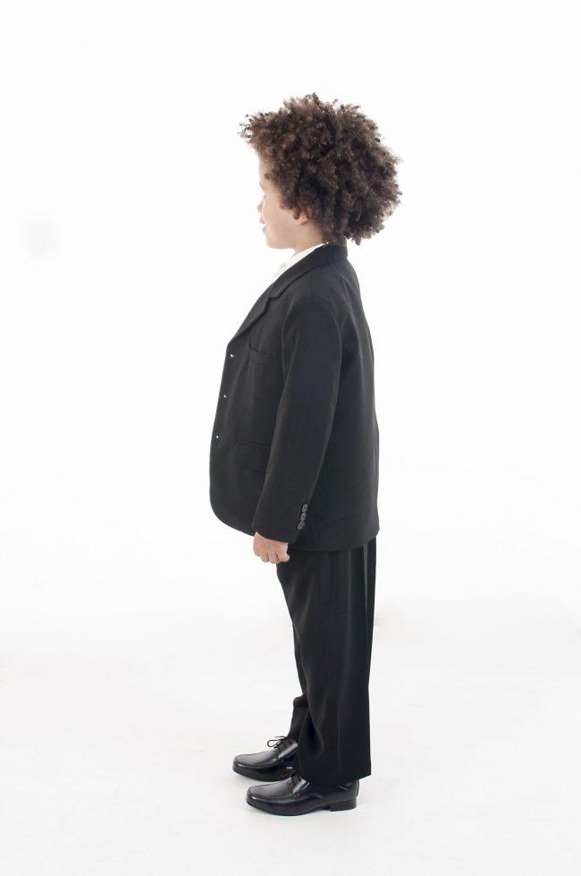 Vivaki 5 Piece Paisley Suit in Silver-883