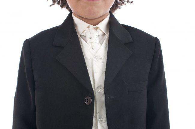 Vivaki 5 Piece Dobby Suit in Cream-846