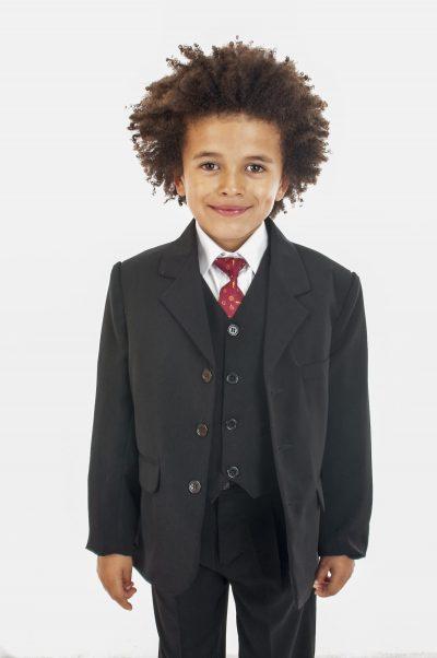 Vivaki 5 Piece Classic Suit in Black -0