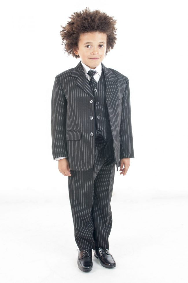 Vivaki 5 Piece Pinstripe Suit-0