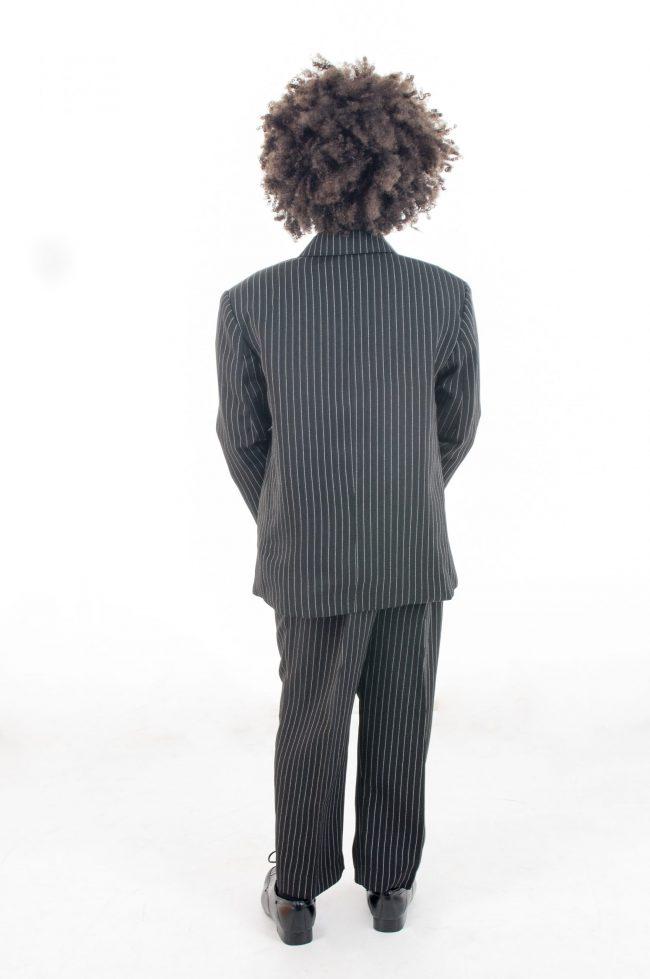 Vivaki 5 Piece Pinstripe Suit-859