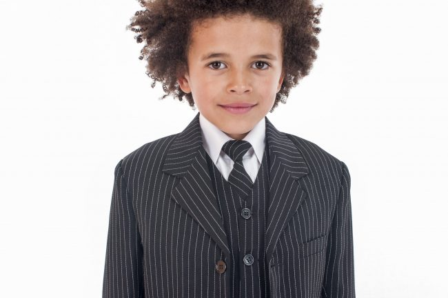Vivaki 5 Piece Pinstripe Suit-862
