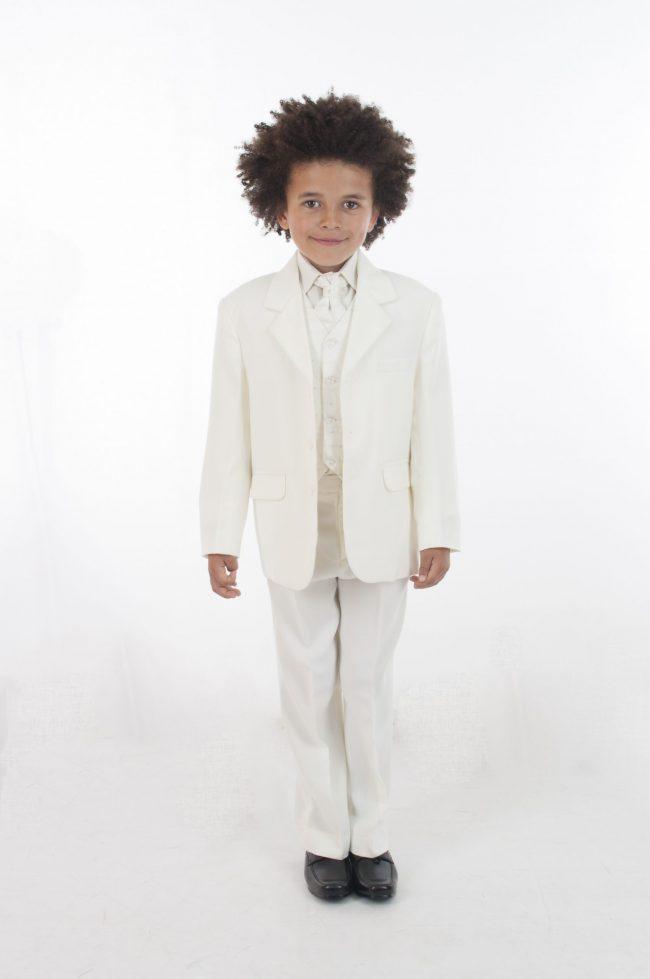 Vivaki 5 Piece Dobby Suit in All Cream-0