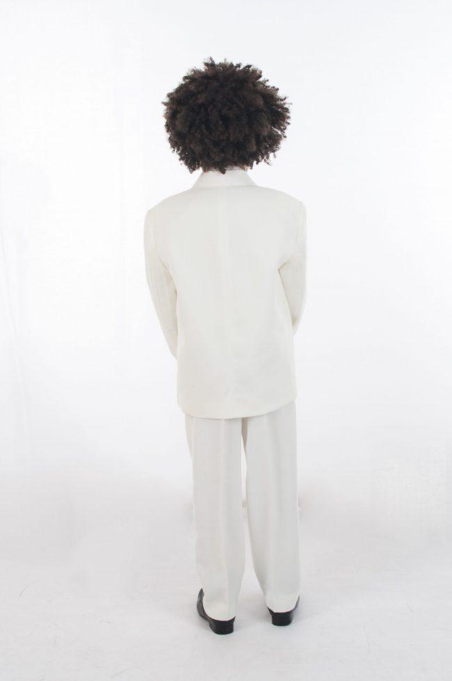 Vivaki 5 Piece Dobby Suit in All Cream-818