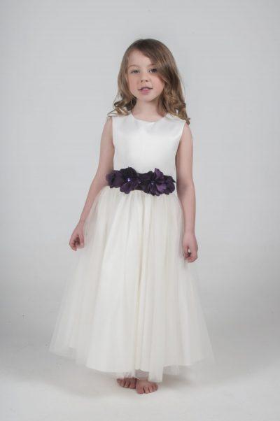 Visara Flower Dress In Purple V347-0