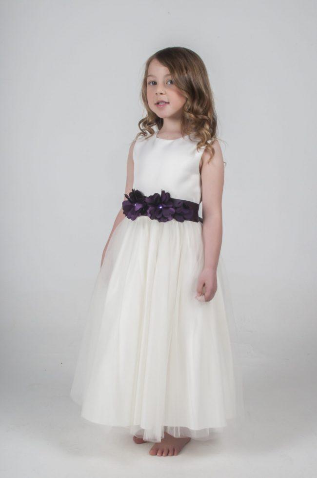 Visara Flower Dress In Purple V347-300