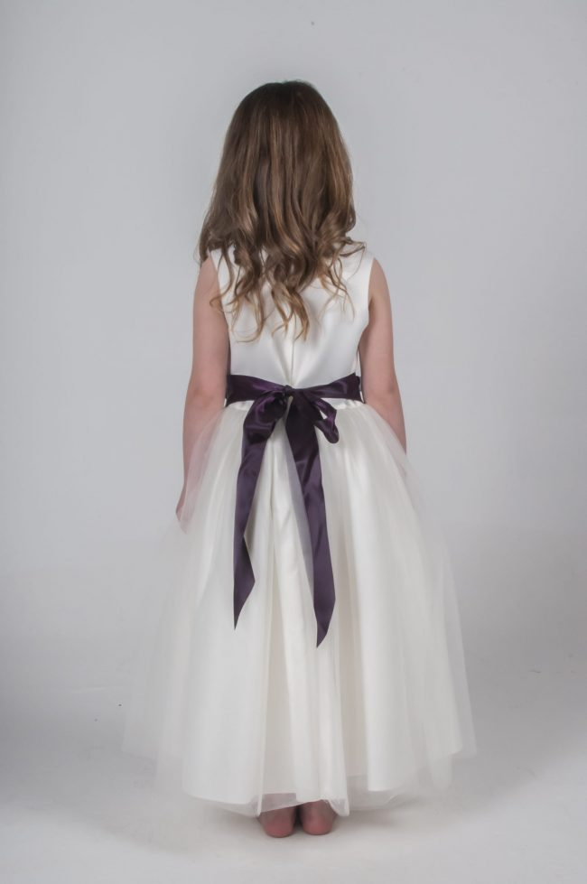 Visara Flower Dress In Purple V347-298
