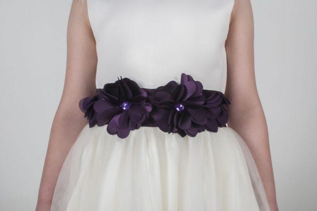 Visara Flower Dress In Purple V347-299
