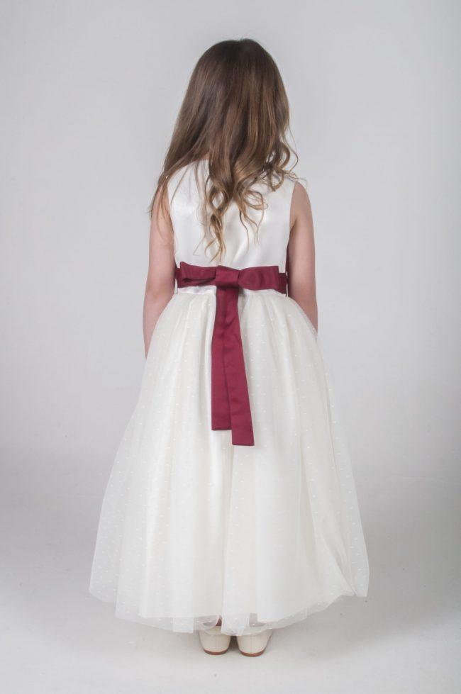 Visara Broach Dress In Wine V341-31
