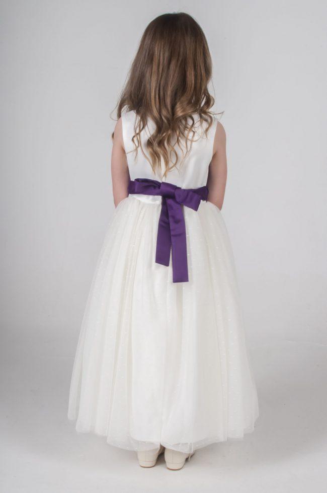 Visara Broach Dress In Purple V341-27