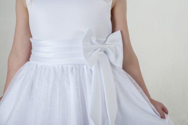 Visara Bow Dress In White V340-34