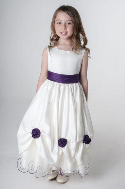 Visara Rosebud Dress In Purple W325-0
