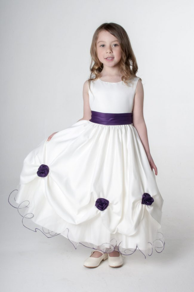 Visara Rosebud Dress In Purple W325-171