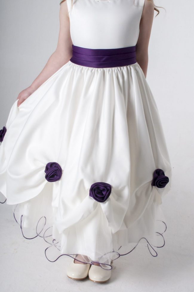 Visara Rosebud Dress In Purple W325-170