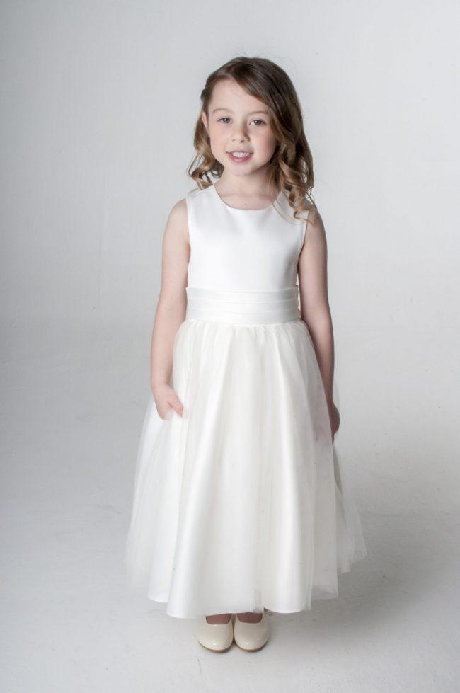 Visara Sash Dress In Ivory V353-0