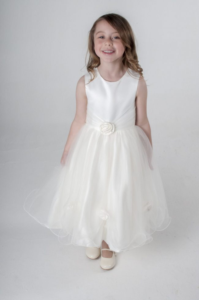 Visara Rose Dress In Ivory V349-0