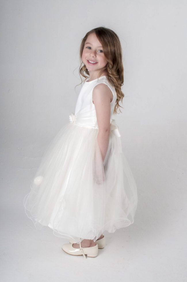 Visara Rose Dress In Ivory V349-195
