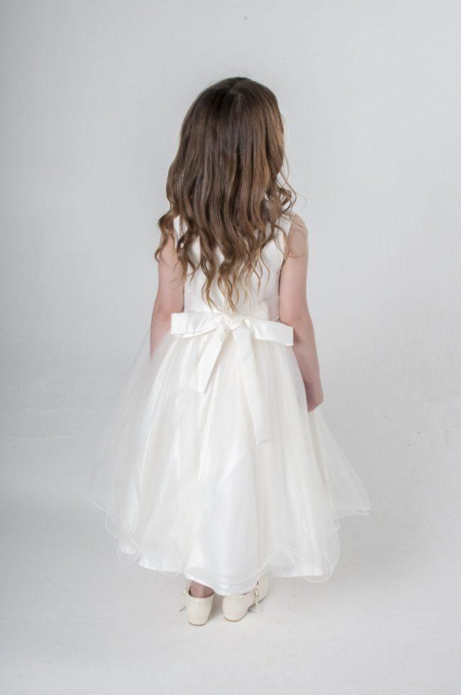Visara Rose Dress In Ivory V349-193