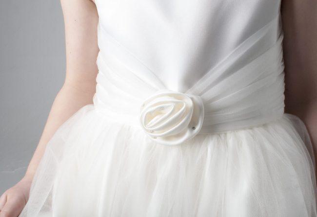 Visara Rose Dress In Ivory V349-196