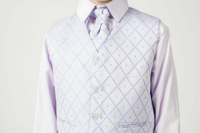 Vivaki 5 Piece Dobby Suit in Lilac-827