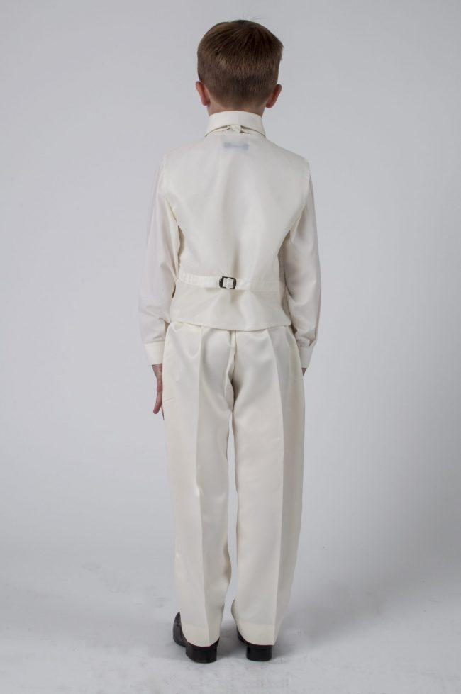 Vivaki 4 Piece Dobby Suit in All Cream-395