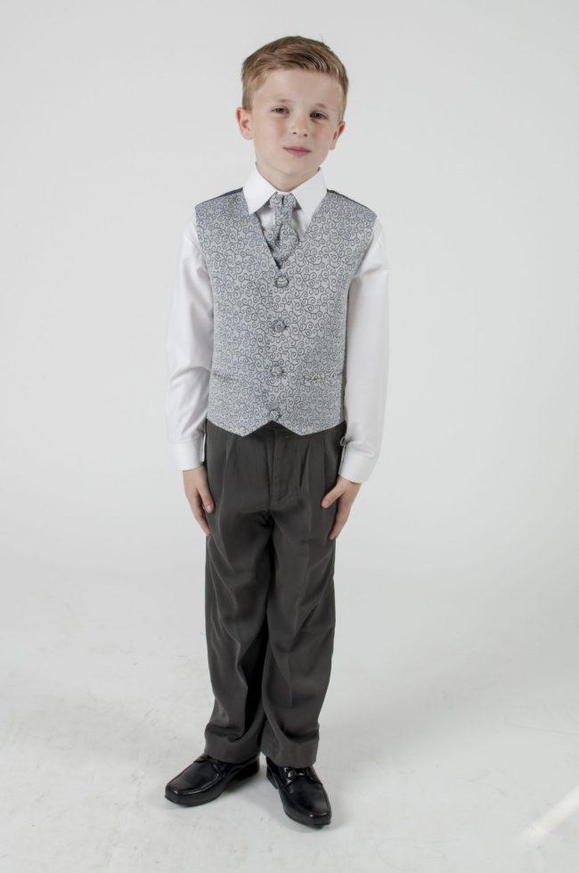 4 Piece Vivaki Swirl Suit in Grey-0