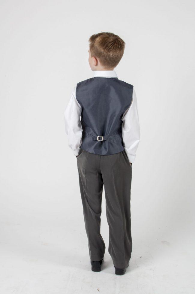 4 Piece Vivaki Swirl Suit in Grey-437