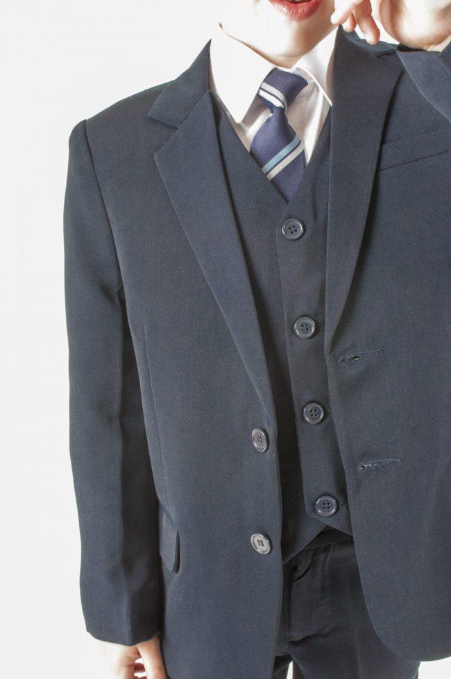 Vivaki 5 Piece Slim Fit Navy Suit-447