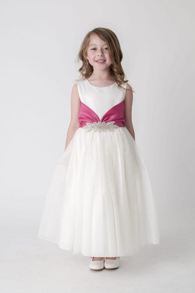 Visara Broach Dress In Pink V341-0