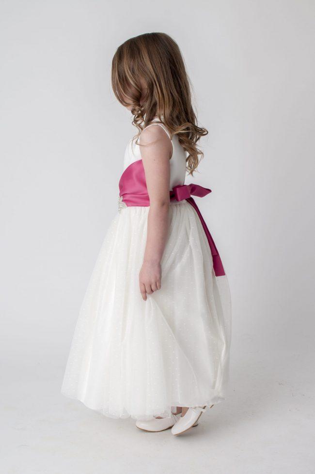 Visara Broach Dress In Pink V341-347
