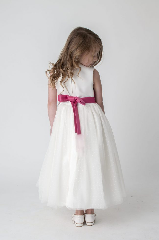 Visara Broach Dress In Pink V341-350